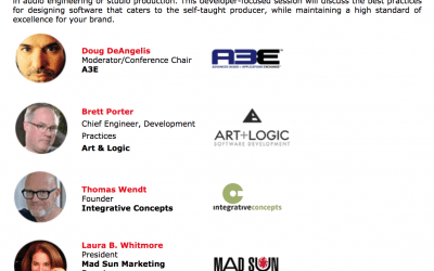 Art+Logic Announcing winner of Software Incubator Lab at A3E event at Summer NAMM.